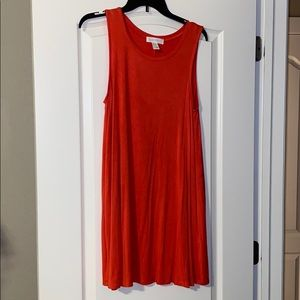 Casual red summer dress